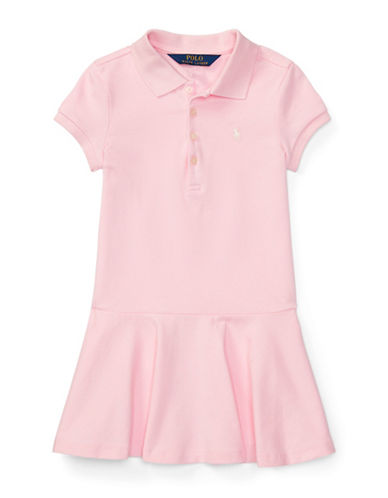 Ralph Lauren Childrenswear Girls Stretch Mesh Polo Dress-PINK-6X