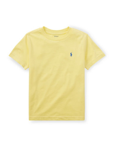 Ralph Lauren Childrenswear Crew Neck Cotton Tee-YELLOW-2