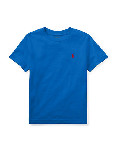 Ralph Lauren Childrenswear Crew Neck Cotton Tee-BLUE-3