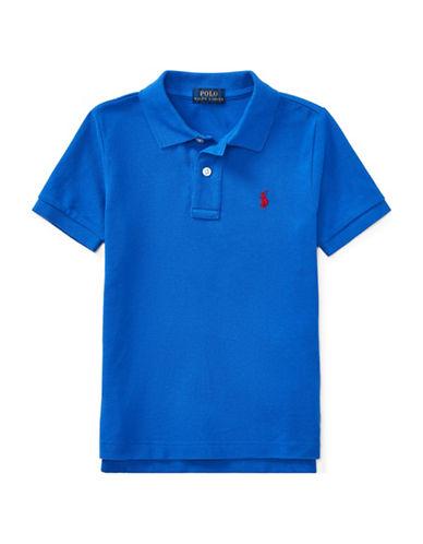 Ralph Lauren Childrenswear Cotton Mesh Polo Shirt-BLUE-6