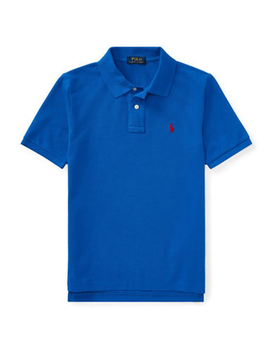 Ralph Lauren Childrenswear Cotton Mesh Polo Shirt-BLUE-Medium
