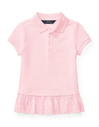 Ralph Lauren Childrenswear Eyelet-Hem Mesh Polo-PINK-6
