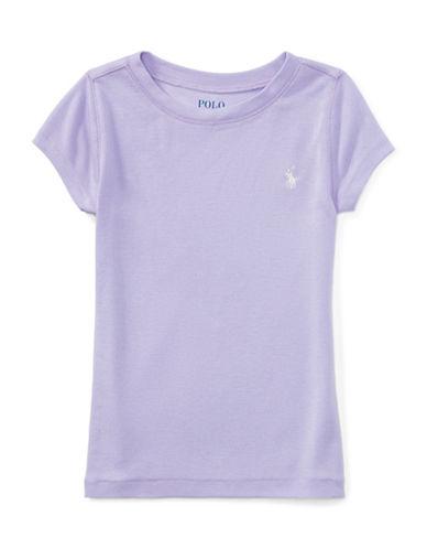 Ralph Lauren Childrenswear Girls Cotton-Blend Crewneck Tee-PURPLE-4T