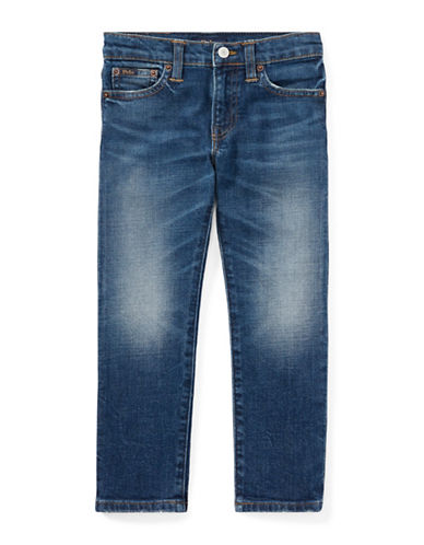Ralph Lauren Childrenswear Cotton-Blend Slim Stretch Jeans-BLUE-7