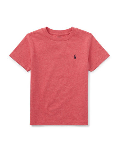 Ralph Lauren Childrenswear Crew Neck Cotton Tee-ORANGE-4