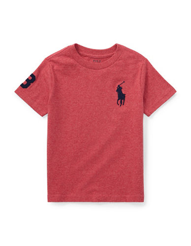 Ralph Lauren Childrenswear Crew Neck Cotton Jersey Tee-ORANGE-3