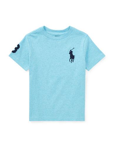 Ralph Lauren Childrenswear Crew Neck Cotton Jersey Tee-BLUE-5