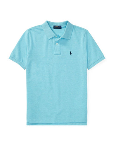 Ralph Lauren Childrenswear Cotton Mesh Polo Shirt-BLUE-X-Large