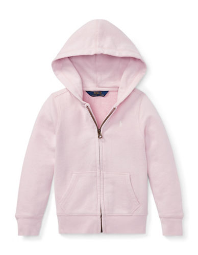 Ralph Lauren Childrenswear Girls French Terry Hoodie-PINK-2T