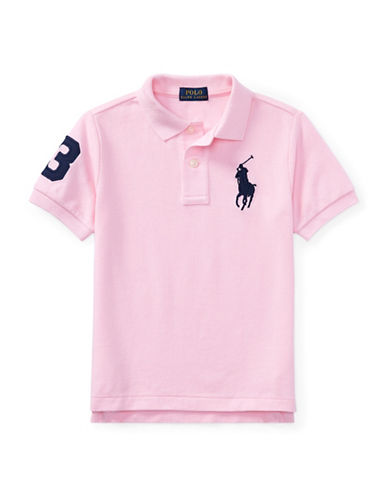 Ralph Lauren Childrenswear Cotton Logo Polo Shirt-PINK-3