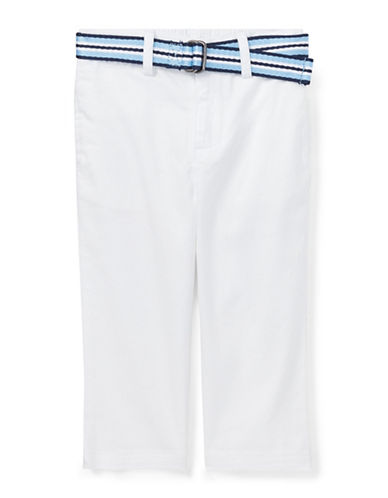 Ralph Lauren Childrenswear Stretch Chino and Belt Set-WHITE-12 Months