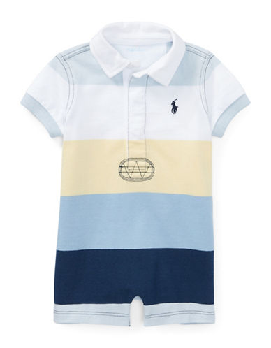 Ralph Lauren Childrenswear Striped Cotton Rugby Shortall-BLUE-9 Months