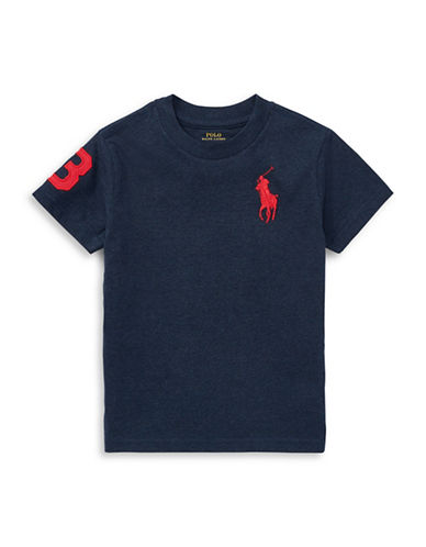 Ralph Lauren Childrenswear Cotton Jersey Crewneck T-Shirt-NAVY-X-Large