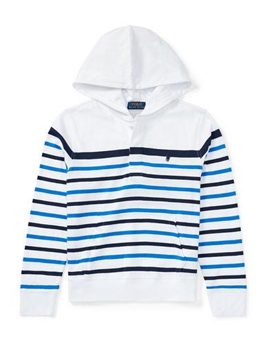 Ralph Lauren Childrenswear Striped Cotton Jersey Hoodie-WHITE-Medium 89926980_WHITE_Medium