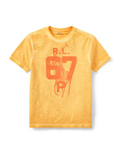 Ralph Lauren Childrenswear Graphic Cotton Jersey Tee-ORANGE-X-Large 89926987_ORANGE_X-Large