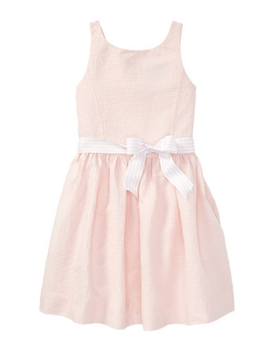 Ralph Lauren Childrenswear Pintucked Cotton Dress-PINK-14