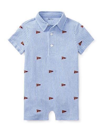 Ralph Lauren Childrenswear Knit Cotton Oxford Shortall-LIGHT BLUE-18 Months