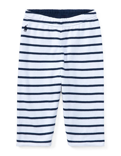 Ralph Lauren Childrenswear Reversible Cotton Pants-BLUE-18 Months