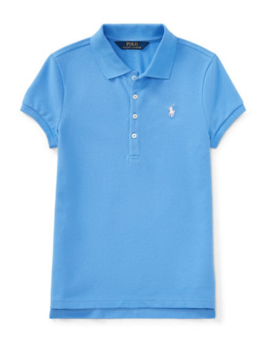 Ralph Lauren Childrenswear Stretch Cotton Polo Shirt-BLUE-Large