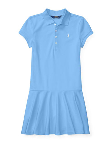 Ralph Lauren Childrenswear Stretch Polo Collar Dress-BLUE-Small