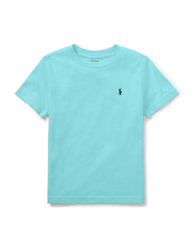 Ralph Lauren Childrenswear Cotton Jersey Crewneck T-Shirt-TURQUOISE-7