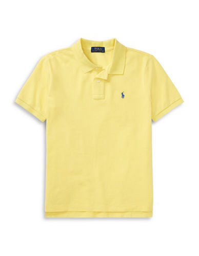Ralph Lauren Childrenswear Cotton Mesh Polo Shirt-YELLOW-Medium