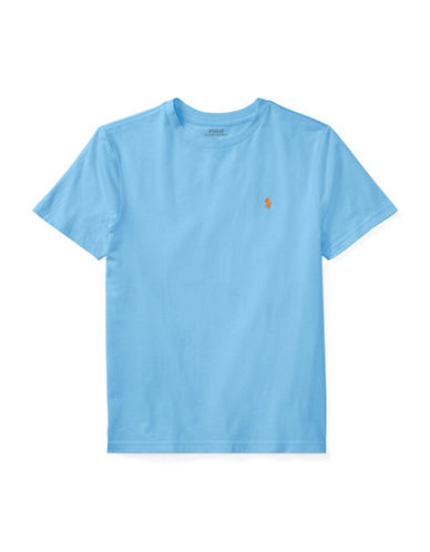 Ralph Lauren Childrenswear Crew Neck Cotton Jersey T-Shirt-GREEN-Medium