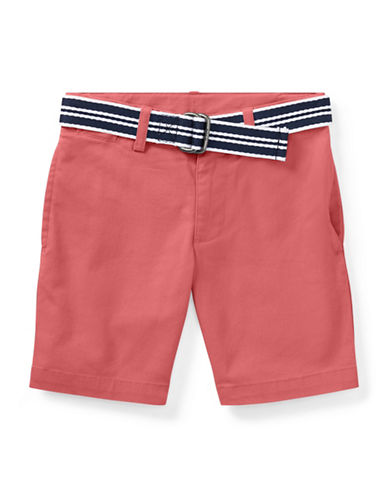 Ralph Lauren Childrenswear Slim Fit Belted Stretch Shorts-RED-5