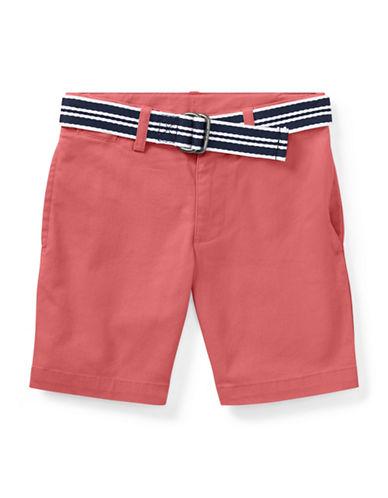 Ralph Lauren Childrenswear Slim Fit Belted Stretch Shorts-RED-7