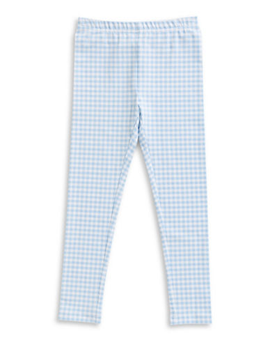 Ralph Lauren Childrenswear Gingham Cotton Jersey Leggings-BLUE-6X