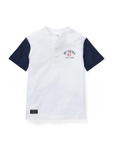 Ralph Lauren Childrenswear Short-Sleeve Cotton Henley-WHITE-4 90030259_WHITE_4