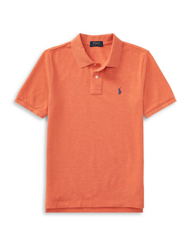 Ralph Lauren Childrenswear Cotton Mesh Polo Shirt-ORANGE-4T