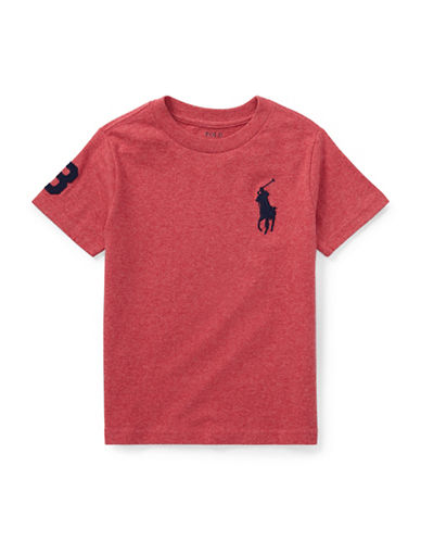 Ralph Lauren Childrenswear Crew Neck Cotton Jersey Tee-ORANGE-6