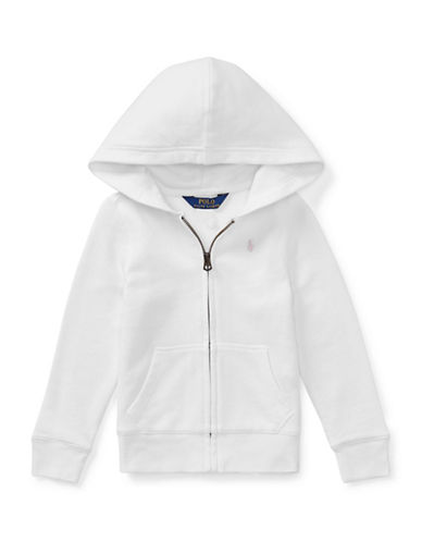 Ralph Lauren Childrenswear Girls French Terry Hoodie-WHITE-6