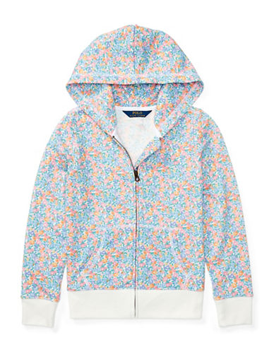 Ralph Lauren Childrenswear Floral Cotton-Blend Hoodie-WHITE-Small