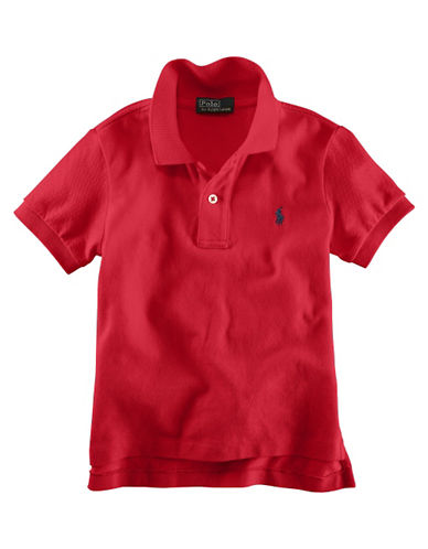 Ralph Lauren Childrenswear Solid Mesh Polo With Pony Player-PINK-6
