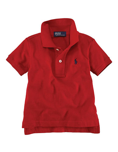 Ralph Lauren Childrenswear Solid Mesh Polo With Pony Player-RED-12-14