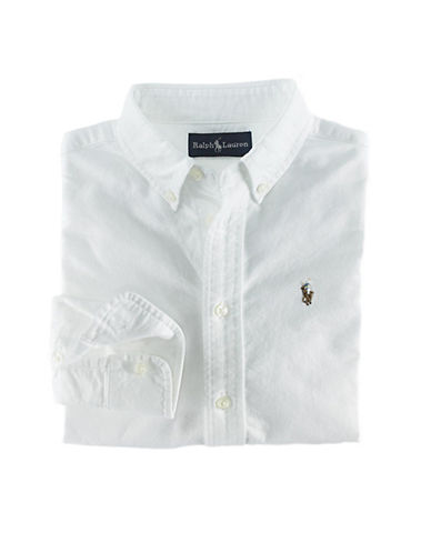 Ralph Lauren Childrenswear Oxford Shirt With Polo Player-WHITE-5