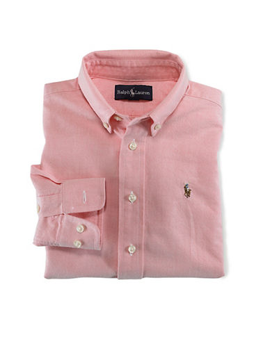 Ralph Lauren Childrenswear Oxford Shirt With Polo Player-PINK-4