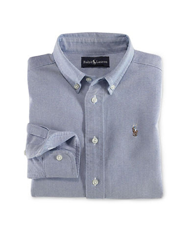 Ralph Lauren Childrenswear Oxford Shirt With Polo Player-BLUE-3T