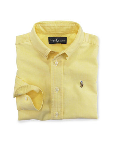 Ralph Lauren Childrenswear Oxford Shirt With Polo Player-YELLOW-18