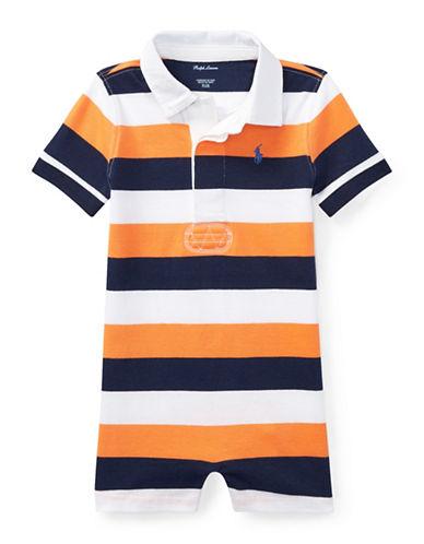 Ralph Lauren Childrenswear Striped Cotton Rugby Shortall-ORANGE-18 Months 89923244_ORANGE_18 Months