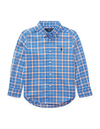 Ralph Lauren Childrenswear Performance Oxford Sport Shirt-BLUE/PINK-6