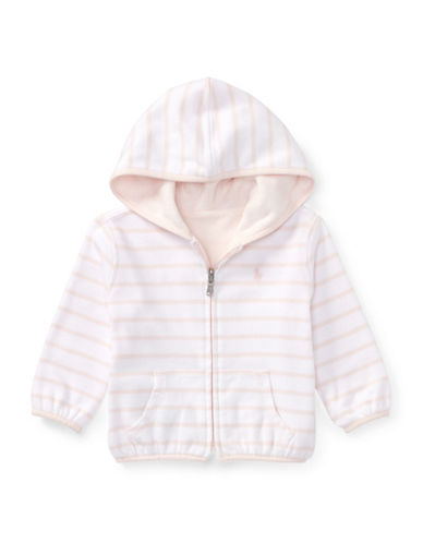 Ralph Lauren Childrenswear Reversible Cotton Hoodie-PINK-18 Months