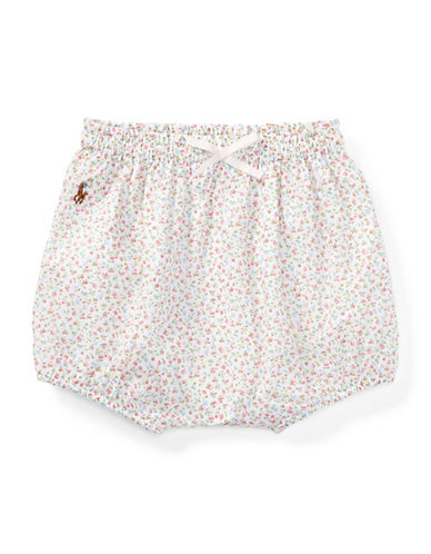Ralph Lauren Childrenswear Floral-Print Cotton Bloomers-PINK-9 Months
