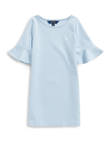 Ralph Lauren Childrenswear Ponte Bell-Sleeve Dress-BLUE-5
