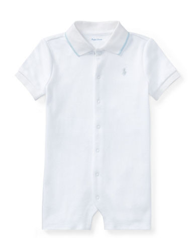 Ralph Lauren Childrenswear Cotton Interlock Polo Shortall-WHITE-6 Months