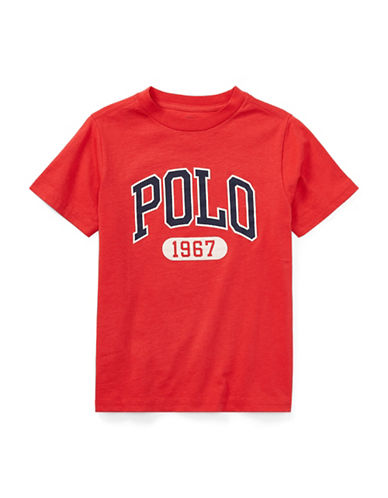 Ralph Lauren Childrenswear Graphic Cotton Jersey T-Shirt-RED-4