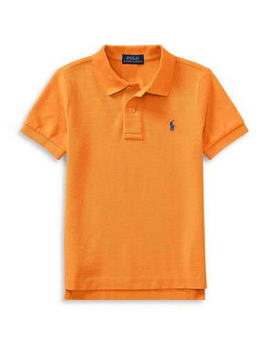 Ralph Lauren Childrenswear Cotton Mesh Polo Shirt-ORANGE-5