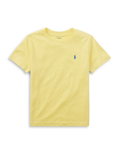 Ralph Lauren Childrenswear Cotton Jersey Crewneck T-Shirt-YELLOW-7